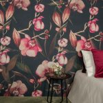 Wandbehang in textiel Rainforest collectie orchidee