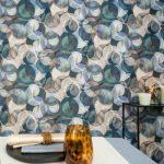 Wandbehang in textiel Rainforest collectie rainfall